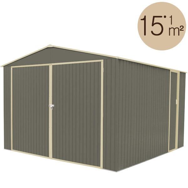 Abri de jardin métal 15,17 m2. + kit d'ancrage inclus