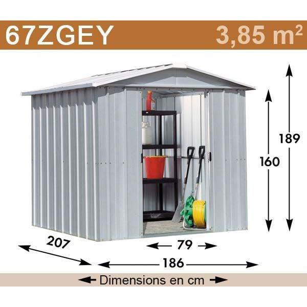 Abri de jardin métal yardmaster éco. 3,85 m2.