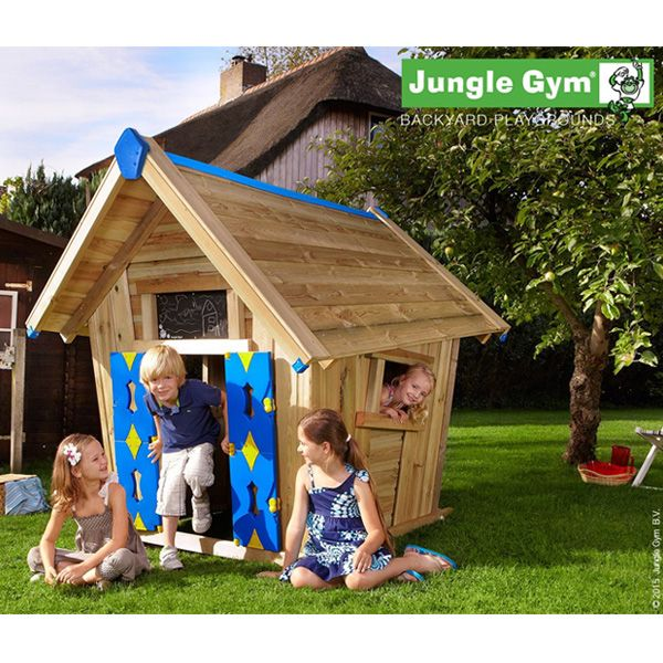 Maisonnette En bois jungle gym joyã - 4 enfants